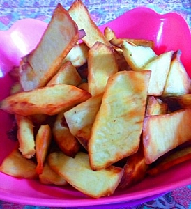 A well fried chips ready to be eaten