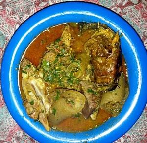 Dried okra soup