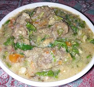 A plate of gote acha