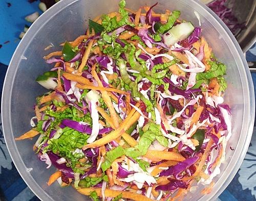 Mixed colour salad