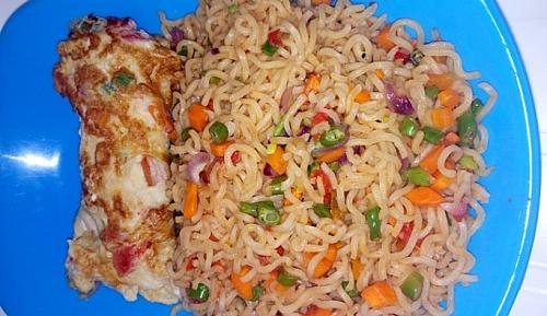 Noodle is served