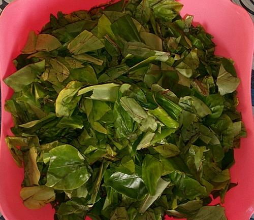 Already prepared oha leaves