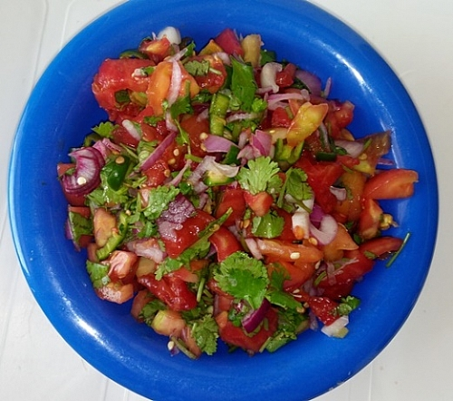 Tomato salsa is ready!