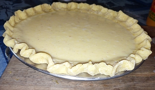 You can fill your pie crust with prepared pumpkin mixture and bake it (pumpkin pie) just like i did in the picture above