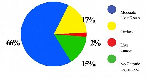 Complications of Hepatitis C and their percentages