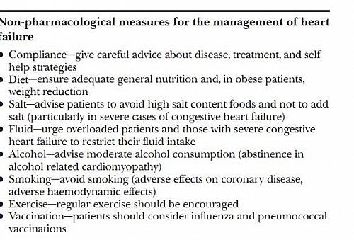 Non Pharmacological treatment of Heart Failure