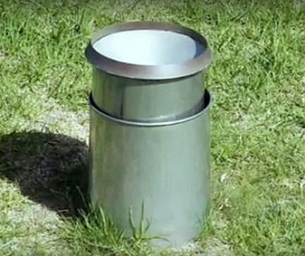 Picture of rain gauge - weather instrument for measuring rainfall