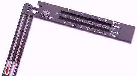 Picture of a Sling Psychrometer- it is used for measuring relative humidity