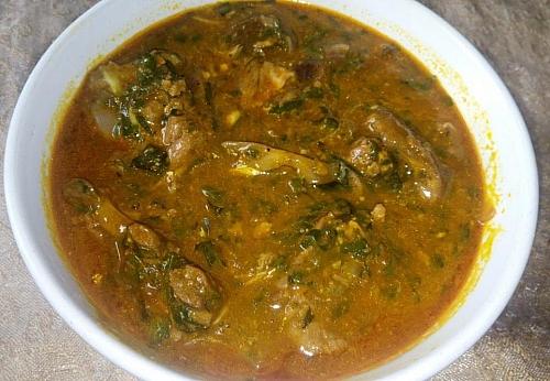 Delicious ogbono soup