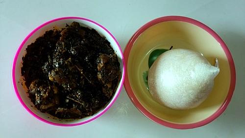 Enjoy Editan soup with semolina or fufu