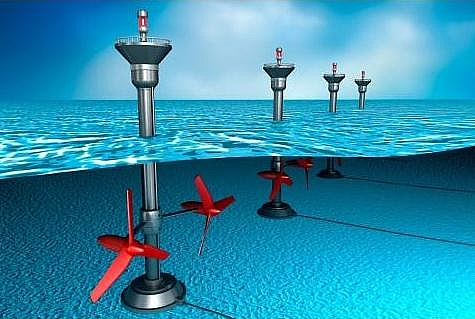 Principle of generation of electrical energy using Tidal energy