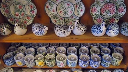 Pottery making is an example of secondary industry
