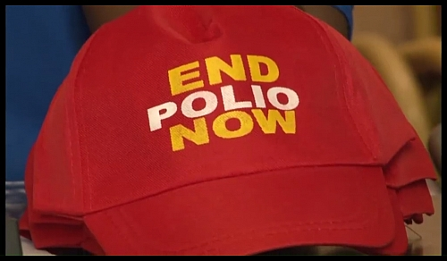 End Polio Now campaign Face cap