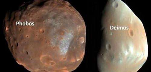 Mars two moons: Phobos and Deimos