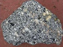 Picture of Andesite, an example extrusive igneous rock