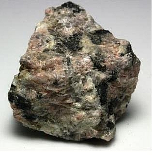 Pegmatite, an example of intrusive igneous rock