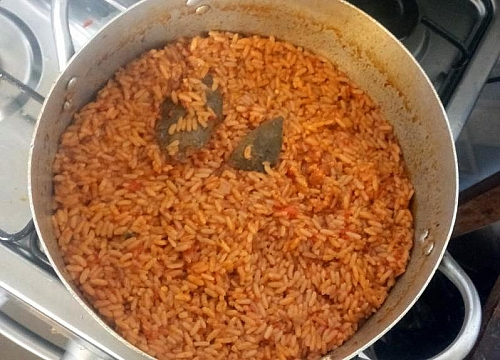 Stir the rice once it is soft and the water has dried