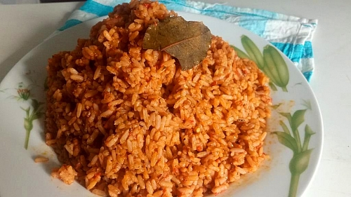 Perfect colour of party jollof rice
