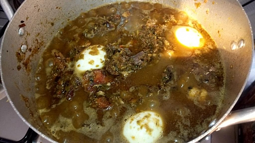 You may choose not to add eggs in you ayamase stew if you don