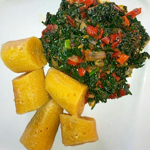 Photo of How to prepare boiled plantain and vegetable sauce