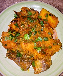 Photo of How To Prepare Yam Porridge/Pottage With Vegetables And Palm oil