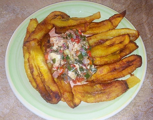 Photo of How to prepare fried plantain chips with egg sauce