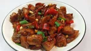 Turn off the heat after 2 minutes and your easy homemade Kung Pao Chicken recipe is ready. You can eat this with fried rice or cooked white rice.