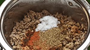 Add more seasonings to the chili recipe