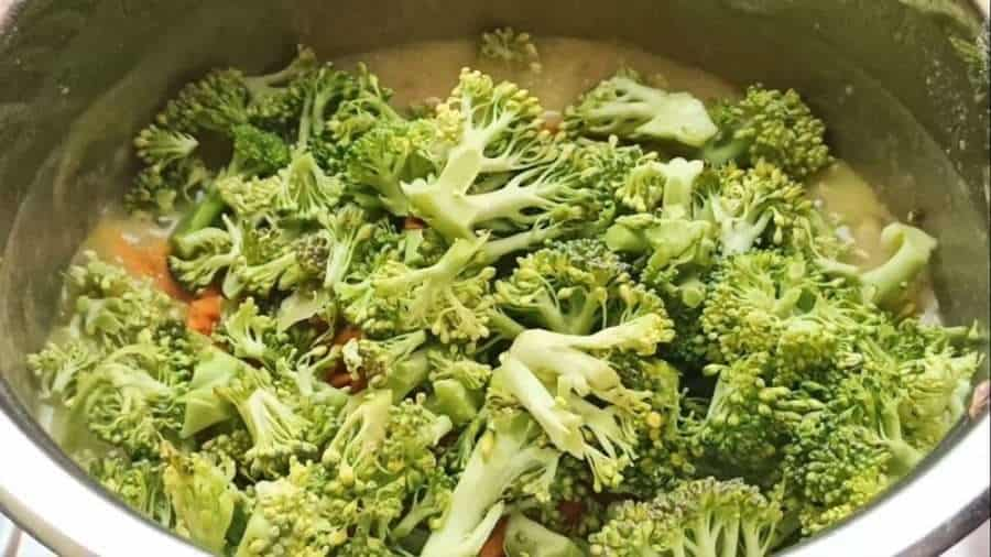 Add the broccoli and carrots