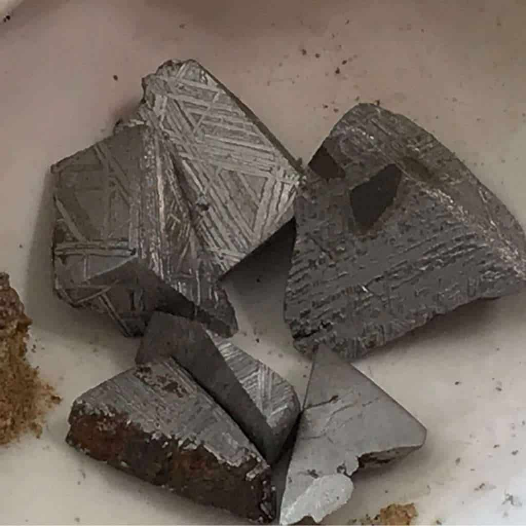 Cuts from Gibeon meteorite