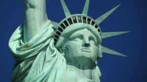 Statue of Liberty Representing Democracy