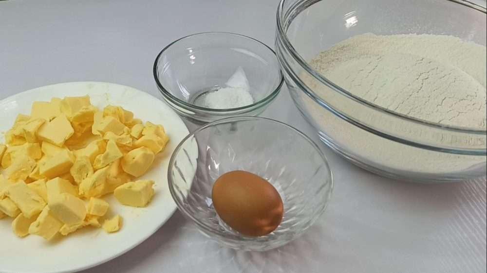 Ingredients for empanada dough recipe