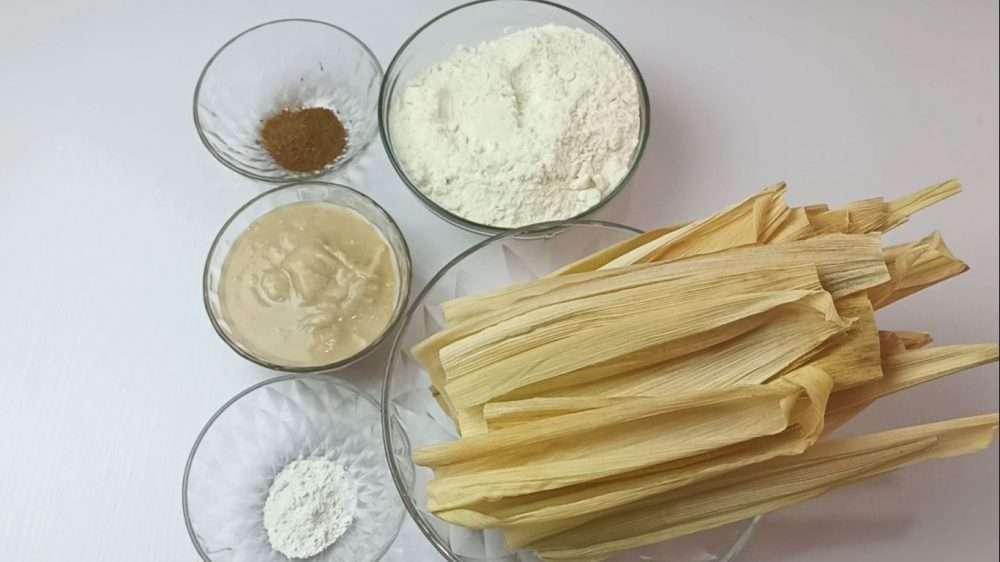 Ingredients for making tamales