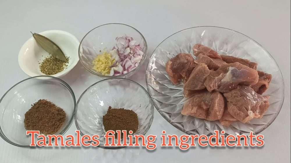 Tamales filling ingredients